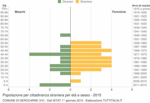 Grafico cittadini stranieri - Gerocarne 2015