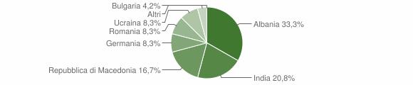 Grafico cittadinanza stranieri - Olivadi 2016