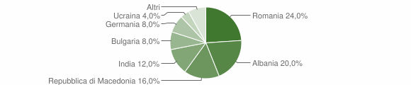 Grafico cittadinanza stranieri - Olivadi 2019