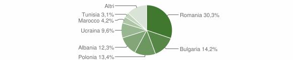 Grafico cittadinanza stranieri - Cotronei 2013