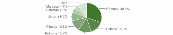 Grafico cittadinanza stranieri - Cotronei 2019