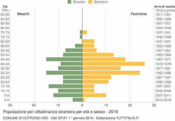 Grafico cittadini stranieri - Cotronei 2016