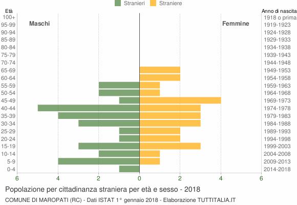 Grafico cittadini stranieri - Maropati 2018