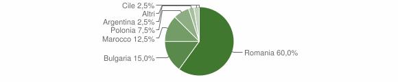 Grafico cittadinanza stranieri - Petronà 2019