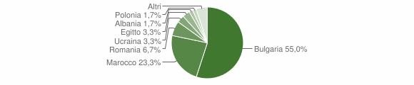 Grafico cittadinanza stranieri - Seminara 2010