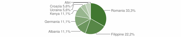 Grafico cittadinanza stranieri - Acquaro 2011