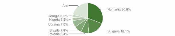 Grafico cittadinanza stranieri - Bagnara Calabra 2019