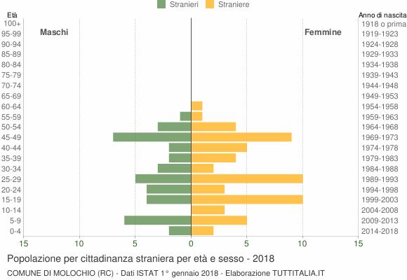 Grafico cittadini stranieri - Molochio 2018