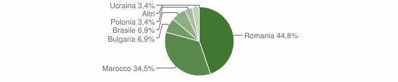 Grafico cittadinanza stranieri - San Vito sullo Ionio 2009