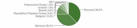 Grafico cittadinanza stranieri - San Vito sullo Ionio 2011
