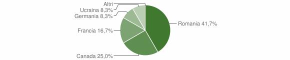 Grafico cittadinanza stranieri - Vazzano 2008