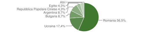 Grafico cittadinanza stranieri - Centrache 2010