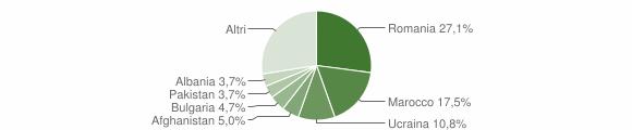 Grafico cittadinanza stranieri - Isola di Capo Rizzuto 2013