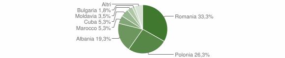 Grafico cittadinanza stranieri - Mangone 2008