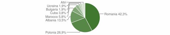 Grafico cittadinanza stranieri - Mangone 2009