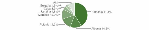 Grafico cittadinanza stranieri - Mangone 2010