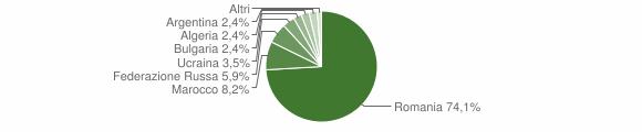 Grafico cittadinanza stranieri - San Gregorio d'Ippona 2009