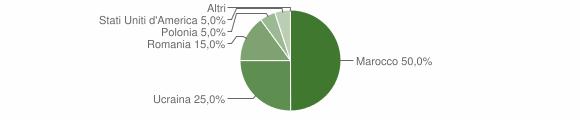 Grafico cittadinanza stranieri - Cerenzia 2009