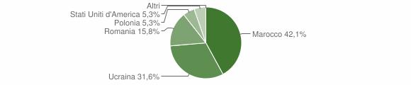 Grafico cittadinanza stranieri - Cerenzia 2013