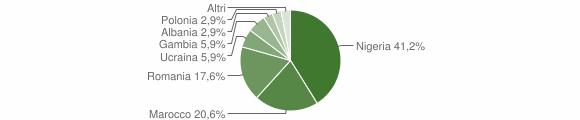 Grafico cittadinanza stranieri - Cerenzia 2018