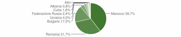 Grafico cittadinanza stranieri - Maierato 2019