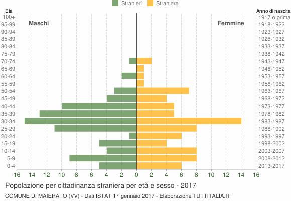 Grafico cittadini stranieri - Maierato 2017