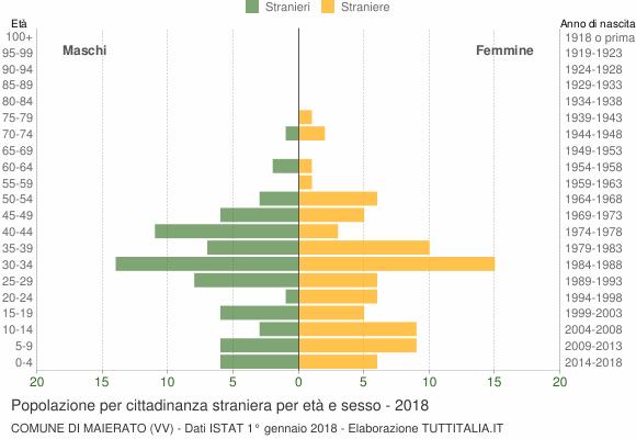 Grafico cittadini stranieri - Maierato 2018