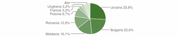 Grafico cittadinanza stranieri - Stilo 2009