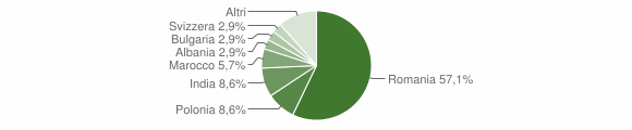Grafico cittadinanza stranieri - San Pietro di Caridà 2014