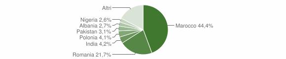 Grafico cittadinanza stranieri - Sellia Marina 2019
