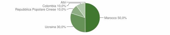 Grafico cittadinanza stranieri - Chiusano di San Domenico 2005