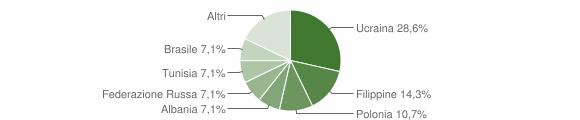 Grafico cittadinanza stranieri - Grottolella 2007