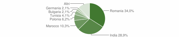 Grafico cittadinanza stranieri - Sant'Angelo d'Alife 2019