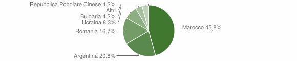 Grafico cittadinanza stranieri - San Nicola Baronia 2018