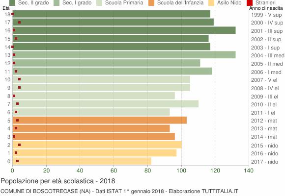 Grafico Popolazione in età scolastica - Boscotrecase 2018