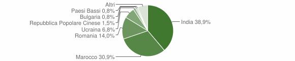 Grafico cittadinanza stranieri - Alvignano 2019