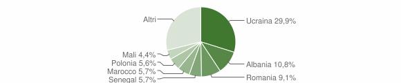 Grafico cittadinanza stranieri - Casagiove 2018