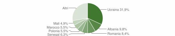 Grafico cittadinanza stranieri - Casagiove 2019