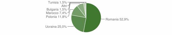 Grafico cittadinanza stranieri - Castelvenere 2011