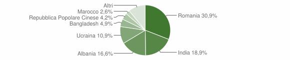 Grafico cittadinanza stranieri - Pignataro Maggiore 2019