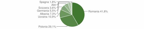 Grafico cittadinanza stranieri - Roccamonfina 2009