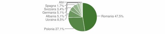 Grafico cittadinanza stranieri - Roccamonfina 2010