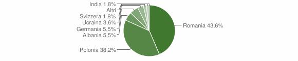 Grafico cittadinanza stranieri - Roccamonfina 2013