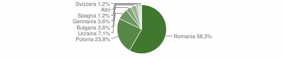 Grafico cittadinanza stranieri - Roccamonfina 2018
