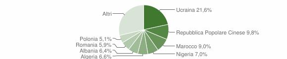 Grafico cittadinanza stranieri - Acerra 2015
