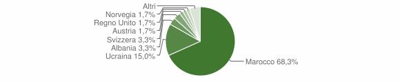 Grafico cittadinanza stranieri - Gioia Sannitica 2006