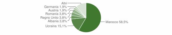 Grafico cittadinanza stranieri - Gioia Sannitica 2008