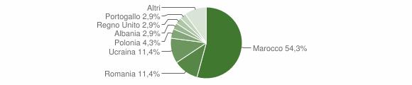 Grafico cittadinanza stranieri - Gioia Sannitica 2009