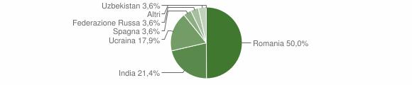 Grafico cittadinanza stranieri - Ailano 2008