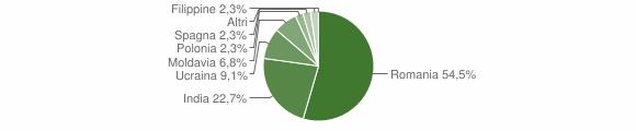 Grafico cittadinanza stranieri - Ailano 2018